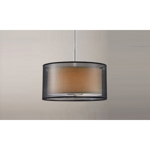 Black Sheer Organza Dual Shades Pendant Light PL1040502