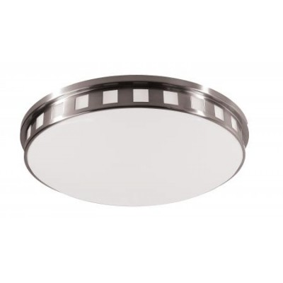 Brushed Nickel Ceiling Fixture with Frosted Acrylic Diffuser CL11121