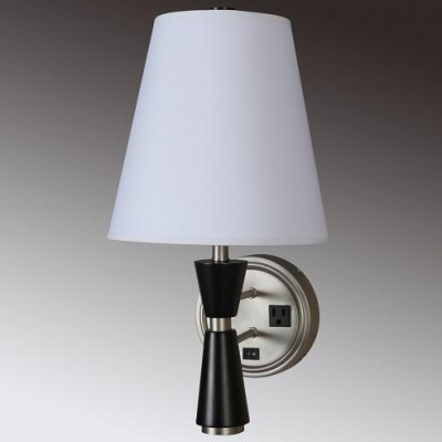 Single Wall Lamp With Outlet For Hotel Ach Lighting