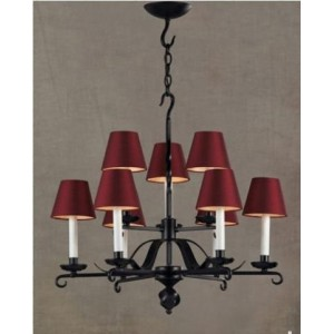 Antique Chandelier with Fabric Shades 903104-6+3