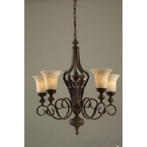 Antique Chandelier with Glass Shades 903103-5