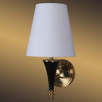 Single Wall Light with Outlet for Hotel WL11004S
